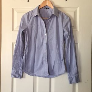 Theory striped button down. Sz small